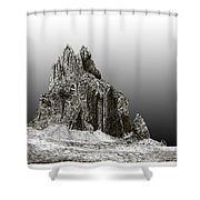 Shiprock Mountain Four Corners Shower Curtain by Jack Pumphrey