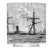 Shipwrecks, 1875 Shower Curtain by Granger