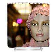 Shopping Girl Shower Curtain by Henrik Lehnerer