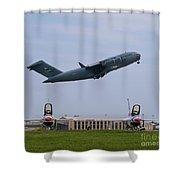 Short Field Takeoff Shower Curtain by Tim Mulina