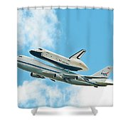Shuttle Enterprise Comes To Ny Shower Curtain by Regina Geoghan