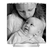 Sibling Love Shower Curtain by Lisa Phillips