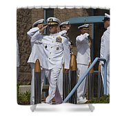 Sideboys Made Up Of Officers Shower Curtain by Michael Wood