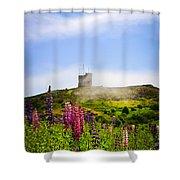 Signal Hill In St. John's Newfoundland Shower Curtain by Elena Elisseeva