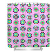 Simple Spots Shower Curtain by Louisa Knight