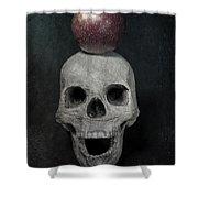 Skull And Apple Shower Curtain by Joana Kruse