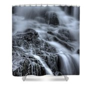 Skull On The Rocks Shower Curtain by Jeff Bord