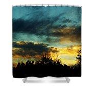 Sky Attitude Shower Curtain by Aimelle