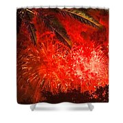 Sky Fire Shower Curtain by Debra and Dave Vanderlaan