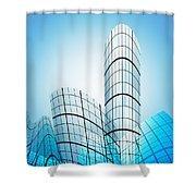 Skyscrapers In The City Shower Curtain by Setsiri Silapasuwanchai