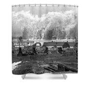 Smoke Screen Around Manhattan Shower Curtain by Underwood Archives