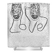 Sneaker Love 2 Shower Curtain by Paul Ward