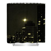 Snow Moon Shower Curtain by Madeline Ellis