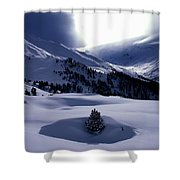 Snow Mountain Austria  Shower Curtain by Colette V Hera  Guggenheim