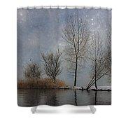 Snowfall Shower Curtain by Joana Kruse