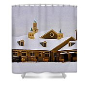 Snowy Day At Erdenheim Farm Shower Curtain by Bill Cannon