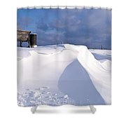 Snowy Day Shower Curtain by Heiko Koehrer-Wagner