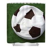 Soccer Ball Seat Cushion Shower Curtain by Matthias Hauser