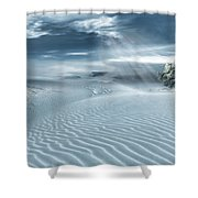 Solace Shower Curtain by Lourry Legarde