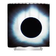 Solar Eclipse Shower Curtain by Stocktrek Images
