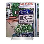 Sold Sketchbook Project Down My Street Shower Curtain by Irina Sztukowski