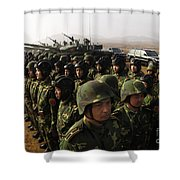 Soldiers With The Peoples Liberation Shower Curtain by Stocktrek Images
