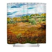 Somewhere In September Shower Curtain by Brett Pfister