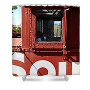 Southern Pacific Caboose - 5D19235 Shower Curtain by Wingsdomain Art and Photography