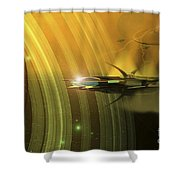 Space Battle With Two Rival Factions Shower Curtain by Corey Ford