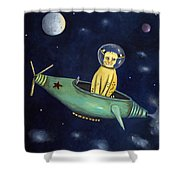 Space Bob Shower Curtain by Leah Saulnier The Painting Maniac