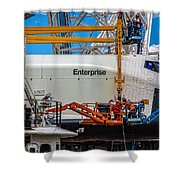 Space Shuttle Enterprise Shower Curtain by Chris Lord