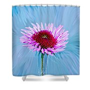 Spin Me Shower Curtain by Linda Sannuti