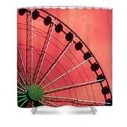 Spinning Wheel  Shower Curtain by Karen Wiles