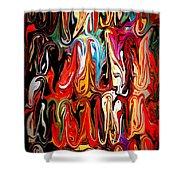 Spirit Of Mardi Gras Shower Curtain by Carol Groenen
