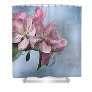 Spring Blossoms For The Cure Shower Curtain by Kim Hojnacki