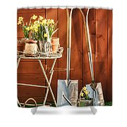 Spring Gardening Shower Curtain by Amanda And Christopher Elwell