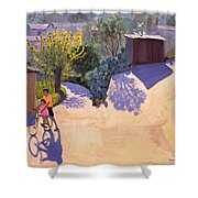 Spring In Cyprus Shower Curtain by Andrew Macara