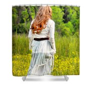 Spring Stroll Shower Curtain by Darren Fisher
