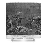 St Bartholomews Massacre Shower Curtain by Granger