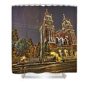 St. Hedwig Detroit Mi Shower Curtain by Nicholas  Grunas
