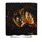 St. Sebastian Tended By Irene Shower Curtain by Georges de la Tour