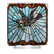 Stained Glass LC 14 Shower Curtain by Thomas Woolworth