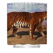Stalking Tiger Shower Curtain by Rosa Bonheur