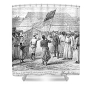 Stanley And Livingstone Shower Curtain by Granger