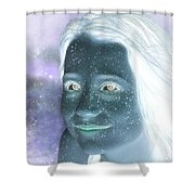 Star Freckles Shower Curtain by Nikki Marie Smith