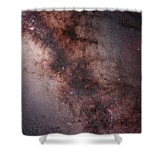 Stars, Nebulae And Dust Clouds Shower Curtain by Philip Hart