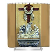 Station Of The Cross 13 Shower Curtain by Thomas Woolworth