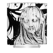 Statue Shower Curtain by Simon Marsden