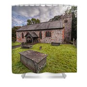 St.dyfnog's Church Shower Curtain by Adrian Evans