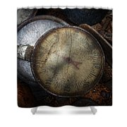 Steampunk - Gauge For Sale Shower Curtain by Mike Savad